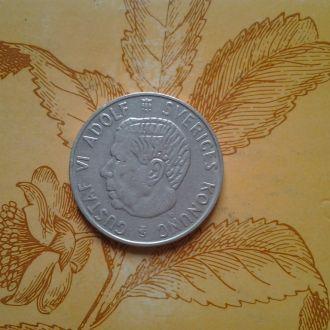 Швеция 1крона 1952 г .Серебро.