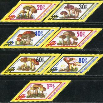 Монголия 1978  Флора Грибы Серия MNH
