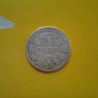 Германия 1 марка 1874 г. (А).Серебро