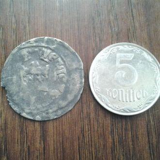 Пражский грош 13-14 век. Серебро.