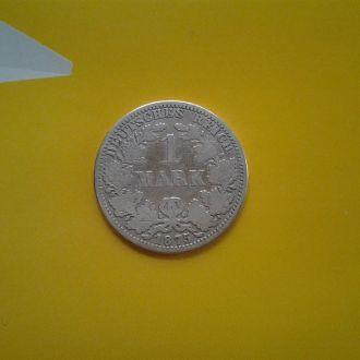 Германия 1 марка 1875 г. (A).Серебро