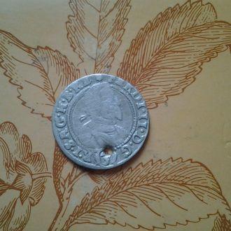 Австрия 3 крейцера 1632 год.Редкая.  Серебро.