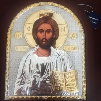 Икона Господь Вседержитель. Греция. Серебро 925