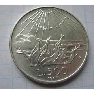 500 ЛІР 1965 ІТАЛІЯ = ДАНТЕ =