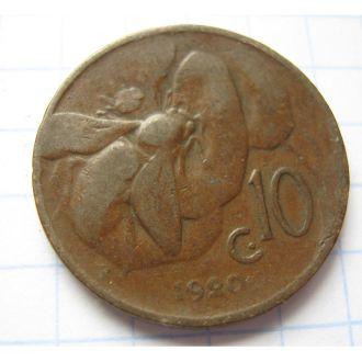10 ЦЕНТ БДЖОЛА 1920 ІТАЛІЯ