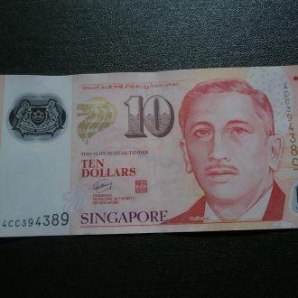 Сингапур. 10 долларов. Окно. Спорт.