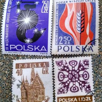 марки Польша сборка с 1 гривны