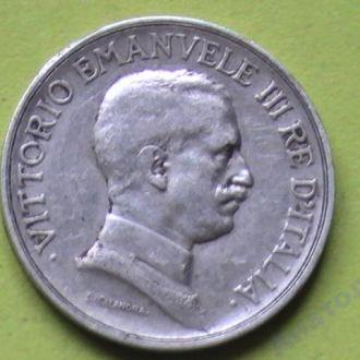 1 Лира 1916 г Италия Серебро 1 Ліра 1916 р  RARE
