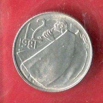 Сан Марино 2 лиры 1981 UNC из набора запайка!