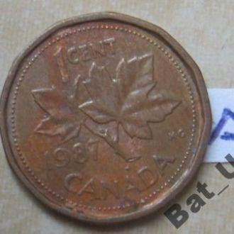 КАНАДА. 1 цент 1987 г.