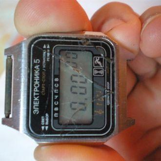 часы Электроника 5 старт - стоп рабочие 16112