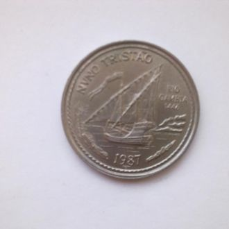 Монета 100 эскудо 1987год     Парусник
