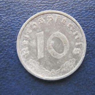 10 пфеннигов 1941 свастика Рейх