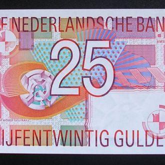 Голландия, 25 гульденов, 1989 Нидерланды, UNC
