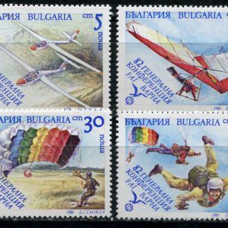 Болгария Авиация Парашютизм и планеризм Сер. MNH
