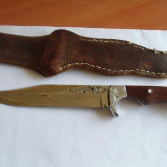 Нож финка охота рыбалка из СССР + ножны Отличный !