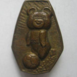 Знак Олимниада-80, олимпийский мишка, т/м