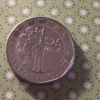 Зимбабве 2003 год монета 25 долларов