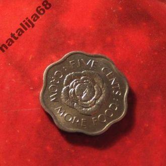 Сейшелы 1975 год монета 5 центов !