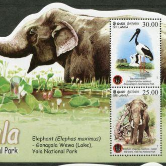 Шри Ланка Фауна Национального парка Слон Блок MNH
