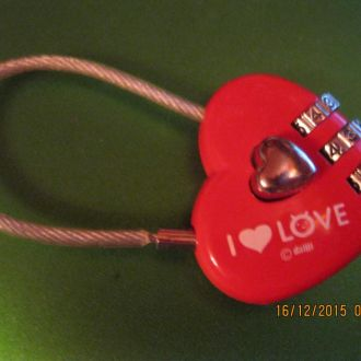 замок сердечко кодовый I LOVE сердце сувенир
