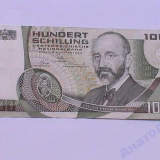 100 Шиллингов 1984 г Австрия 100 Шилінгів 1984 р