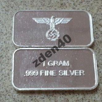 коллекционный слиток серебряный рейх (мини)