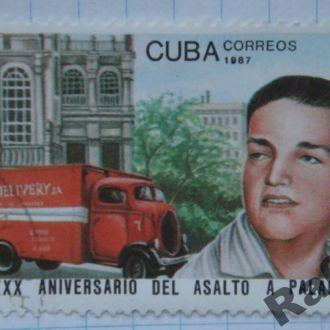 Марка почта Куба 1987 30 лет штурма дворца