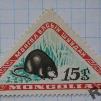 Марка почта Монголия 1959 Ондатра Фауна