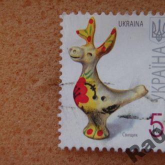 Марка почта Украина 2008 - II Свищик Свисток