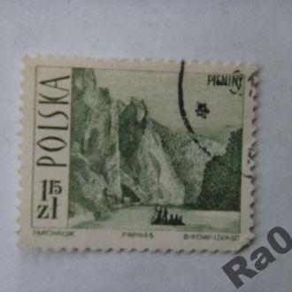 Марка почта Польша 1966 Дунаец Джордж Туризм
