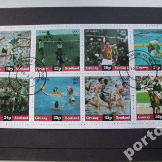 м/лист Шотландия 1984 Олимпиада Лос-Анжелес