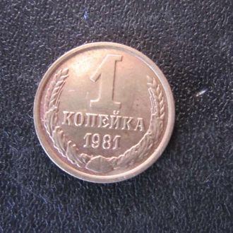 1 копейка СССР 1981