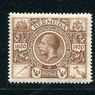 Бермуды Британские 1921 год Чистая ** Корабль