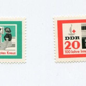 ГЕРМАНИЯ 1963 ** ГДР МЕДИЦИНА КРАСНЫЙ КРЕСТ МАШИНА