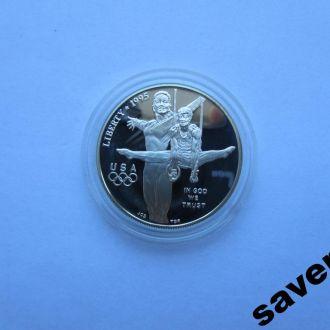 1 доллар Америка США Олимпиада Атланта 1995 Серебр
