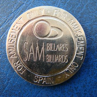 Испания жетон игровой Бильярд