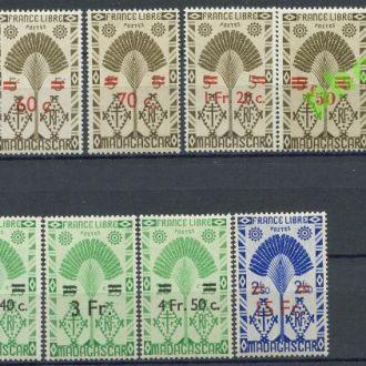 Мадагаскар 1944 Флора Дерево надп. 10м.**