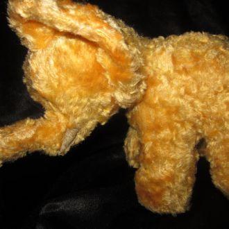 Плюшевый слон слоник опилки солома игрушка СССР