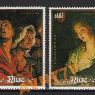 Ниуэ 1988 Живопись РУБЕНС серия 14,00 евро **