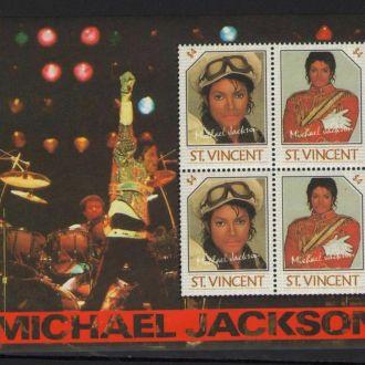 Сент-Винсент 1985 Поп Музыка Майкл Джексон блок **