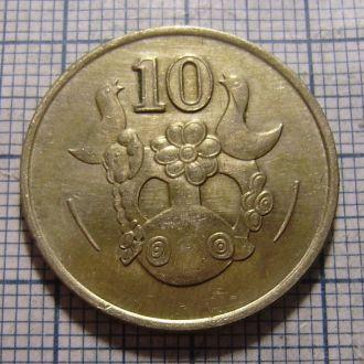 Кипр, 10 центов 1991 г.