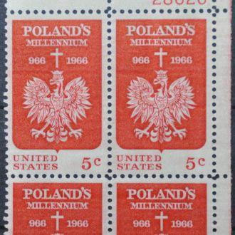 США Польский герб Sc.1313 1966