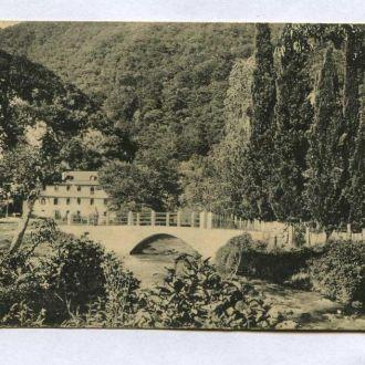 Ново - Авонский монастырь вид с огорода на водопад