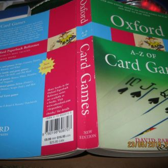 OXFORD a-z of card games книга на английском карты