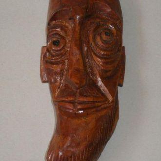 Деревянная резная настенная маска, 70-80е года.