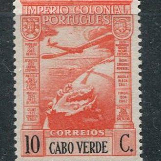 Кабо-Верде португ. 1938 год Чистая ** Самолет