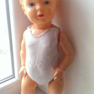 Игрушка кукла пупс целлулоид СССР 50см