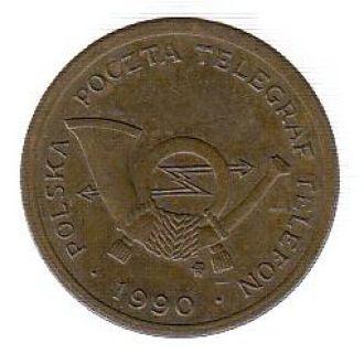 Польша почтовый/телефонный жетон 1990 тип А