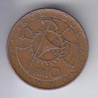 Чехия 10 крон 2000 Милленниум